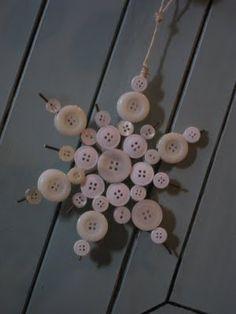 button snowflakes