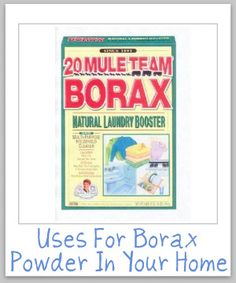uses for borax powder for cleaning, laundry and stain removal