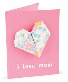 Kids Origami Heart #Valentine #Card