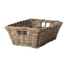 """BYHOLMA Basket - gray, 14 ¼x20x6 ¾ """" - IKEA"""