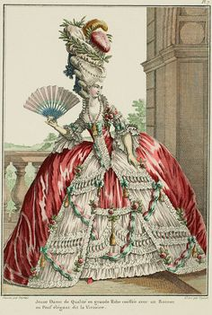 Galerie des Modes, 8e Cahier, 1ere Figure: Robe parée, 1778
