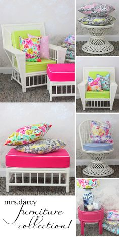 cute way to spruce up old wicker furniture @adaanddarcy