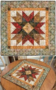 Bali Addison's Star Wall Quilt makes a cute table topper