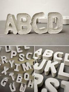 DIY Cement Alphabet