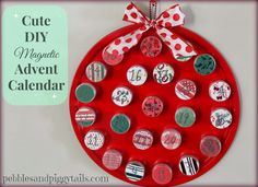 Pebbles and Piggytails: Making Life Meaningful: DIY Magnetic Christmas Advent Calendar