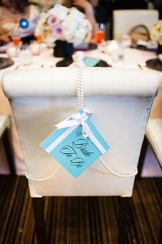 Amazing chair decoration for a bridal shower
