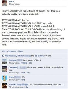 funny facebook status updates