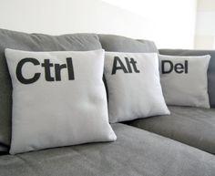 Geeky accent pillows!