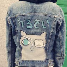 jean jacket painting