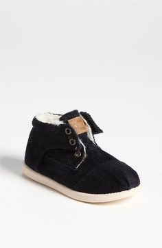 TOMS 'Botas Cord' Boot (Baby, Walker & Toddler) available at #Nordstrom toddler boy boots, boot babi
