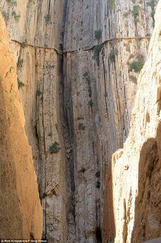 Don't look down!  Spain's El Caminito Del Rey.