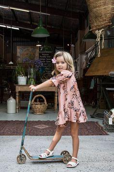 Immy Belle Dress Saffron - Arnhem Clothing #designer #kids #fashion