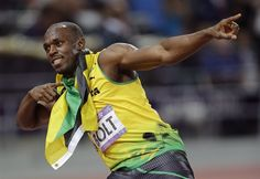 Day 13: Evening Session - Track & Field Slideshows | Usain Bolt during the evening session of track and field at Olympic Stadium. (Photo: Associated Press) #NBCOlympics