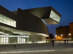 MAXXI National Museum of XXI Century Arts is first national contemporary architecture building public museum, designed by London based Zaha Hadid.