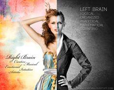 Right brain vs left brain illustration