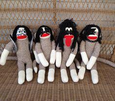 KISS Sock Monkey Dolls by MarysMonkeys on Etsy