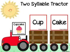 speech therapi, two syllable words, tractor pull, syllable reduction, spring therapi