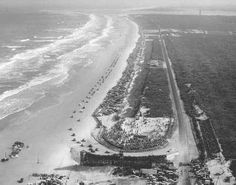 One of the first NASCAR races on the beach at Daytona