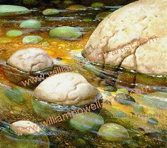 Painting Lesson: Intro Painting Rocks Under Water oil paintings, draw lesson, paint lesson, paint rock, tutori paint, oil painting tutorial, painting lessons