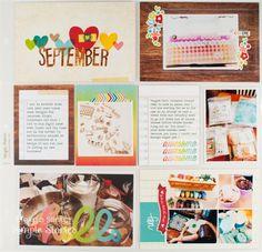 #papercraft #scrapbook #layout.  pocket page layout by Melissa Stinson