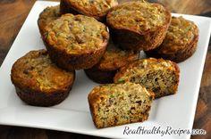 Recipe for healthy zucchini muffins.