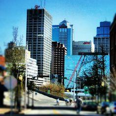 Delaware Avenue in Kansas City downtown.