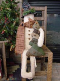 snowman doll with tree