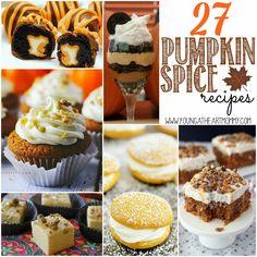 27 Pumpkin Spice Recipes #RecipeRoundup #Fall #PumpkinSpice