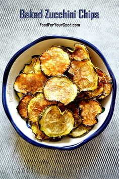 Baked Zucchini Chips | FoodForYourGood.com #zucchini_chips