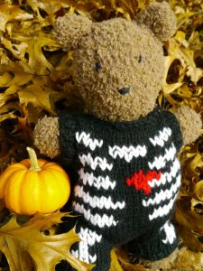 Barrison Bear is sure to scare up some fun in her new Halloween costume!