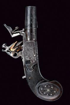 A nice flintlock pocket pistol, France, ca. 1800.