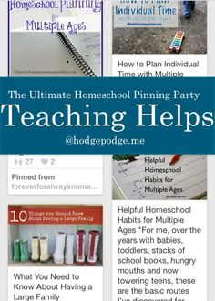 Teaching Helps at The Ultimate Homeschool Pinning Party!