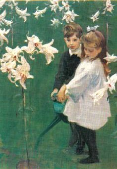 Garden Study of the Vickers Children by John Singer Sargent