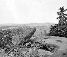 Gettysburg, Pa. The center of the Federal position viewed from Little Round Top