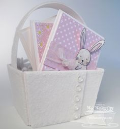 Felt-covered MFT 3x3 Easter basket