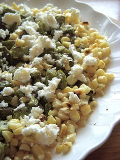 grilled nopales and corn salad #mexicana #vegetariana