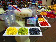 Yogurt Parfait.  Outer Space baby shower, food