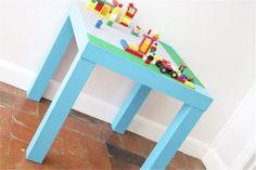 diy lego table using ikea table.... John can make this