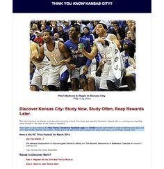 Neal Family Reunion invite March 2014. Think you know Kansas City? Basketball trivia.