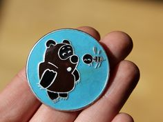 Vintage pin, Russian version of famous Winnie the Pooh. $6.50, via Etsy.