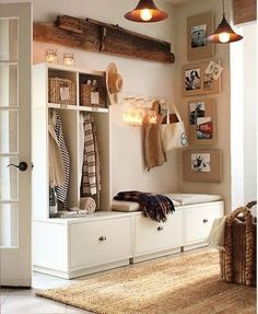 double bench entryway