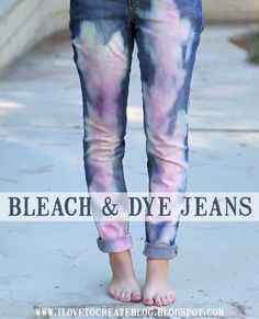 Bleach out & dye your jeans DIY