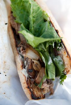 paseo cuban roast pork sandwich recipe. Oh my my my my my. This sandwich changed my life. To make it at home would be divine.