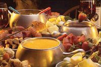 Cheese, Meat and Chocolate Fondue! #bestdinner