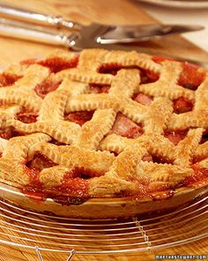 Rita's Raspberry-Rhubarb Lattice Pie