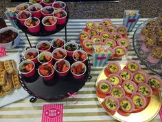 Brunch Baby Shower. Waffle sticks, fruit salad, mini quiche's, and yogurt parfaits. Love this idea for food.