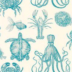 sea life fabric.
