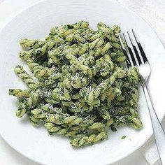 pesto pasta, food processor
