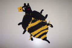 Bumble Bee Hot Pad - free crochet pattern