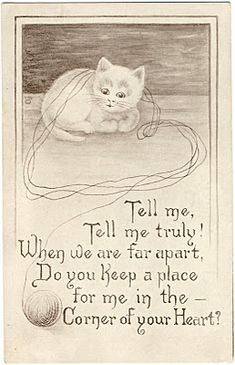 Vintage Greeting Card  - Missing You